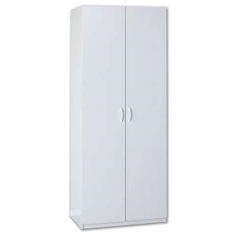 Closetmaid Cabinets Home Depot closetmaid 80 in h x 36 in w x 20 in d white lamninate storage cabinet 12338 the home depot
