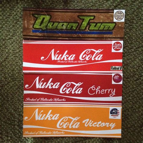 Nuka Cola Sticker 8 fallout stickers labels nuka cola cherry victory