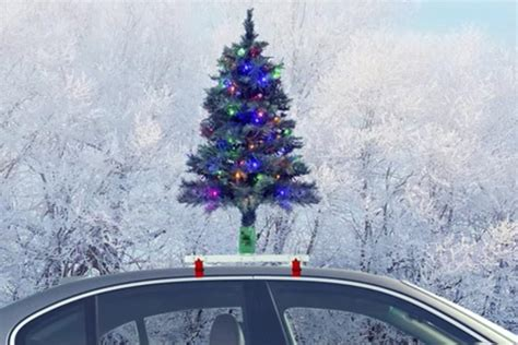 the christmas tree decoration that goes on top of your car
