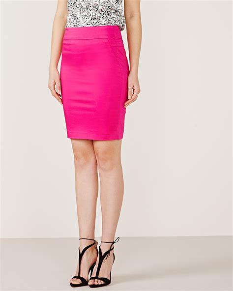 Cotton Pencil Skirt cotton sateen pencil skirt rw co