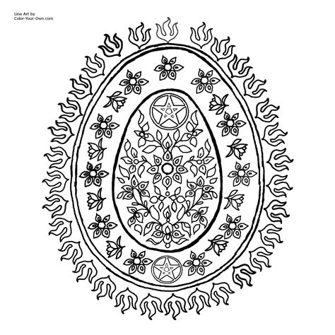 free coloring pages of pentagram
