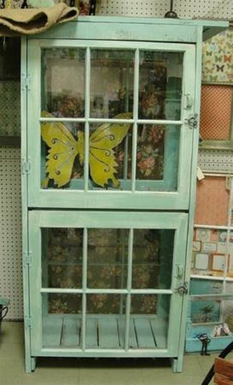 Making Cabinet Doors From Plywood Turn An Old Window Into A Cabinet Diy Projects For Everyone