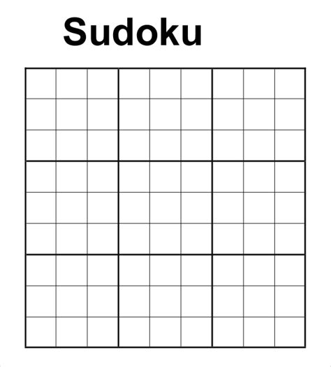 Free Printable Sudoku Templates | prinable sudoku templates 15 free word pdf documents