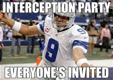 Romo Interception Meme - why is everyone sucking tony romo s dick suddenly