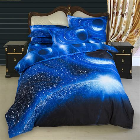 Size Comforter Set Boys Outer Space Theme Bedroom Blue Bedding Ebay 3d Galaxy Bedding Sets Size Universe Outer Space Themed Bedspread 2pcs 3pcs 4pcs Bed