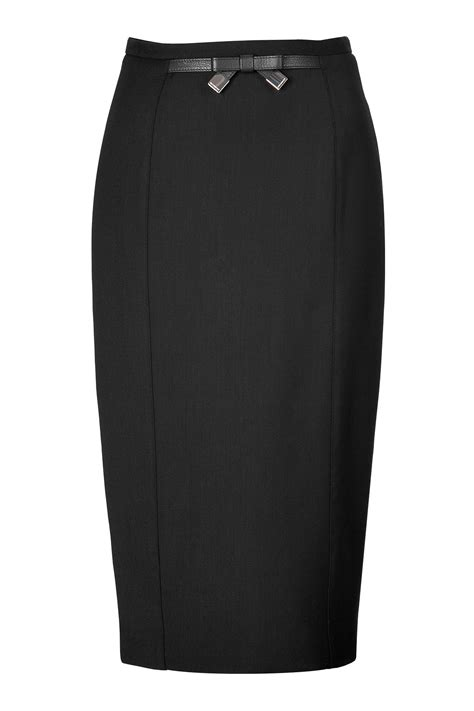 burberry high waisted pencil skirt in black lyst