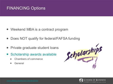Phd Options After Mba Finance by Mba Financing Options Ualbany Weekend Mba