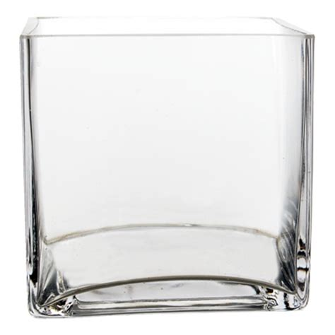 6 Square Vase by Cube Vase 6 Quot X6 Quot X6 Quot Wholesale Lot Clear Square Cube Vase