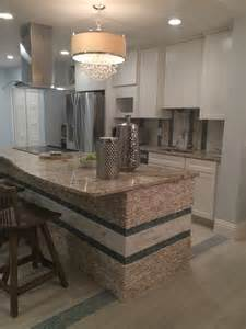 tile floors backsplash kitchens island standing quartz pebble tile kitchen island and backsplash