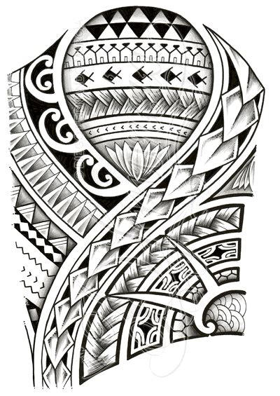 simple polynesian tattoo design 48 coolest polynesian tattoo designs