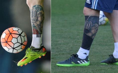 messi tattoo mateo lionel messi shows off his new heavily modified tattoo