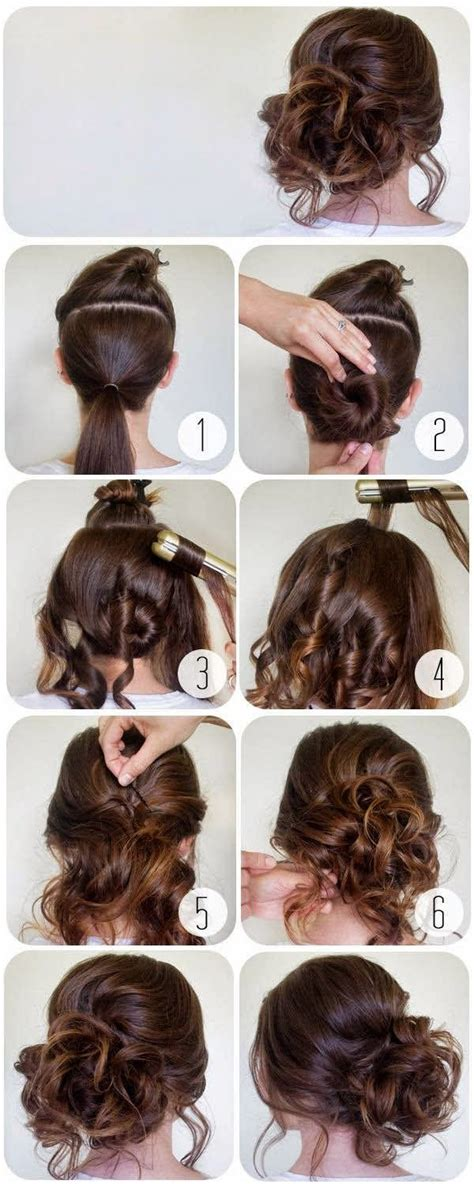 instructions on how to do a curly dressy chin lenght hairstyle 17 best ideas about messy curly bun on pinterest curly