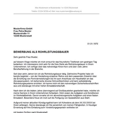 Bewerbungsschreiben Lebenslauf Rohrleitungsbauer Bewerbung Als Rohrleitungsbauer Rohrleitungsbauerin Bewerbung Co