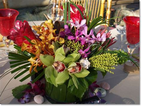 64 Best Images About Tropical Centerpieces On Pinterest Hawaiian Wedding Centerpieces