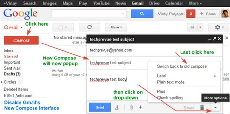 enable layout editing mode disable enable gmail s new compose mode editor interface