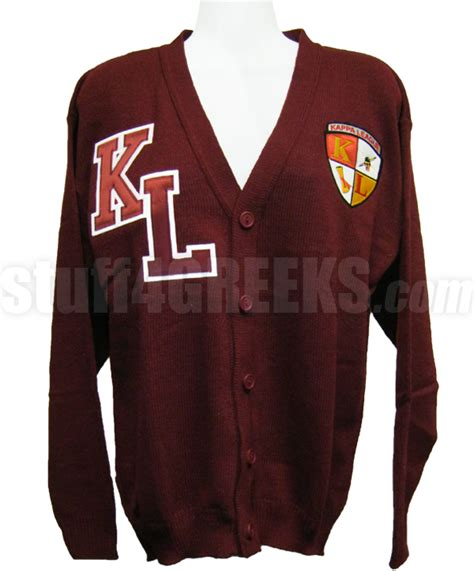 Cs R Sweater kappa league cardigan with letters and crest crimson