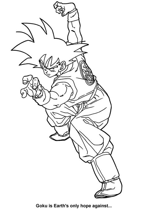coloring pages of dragon ball z kai dagon ball z kai coloring pages