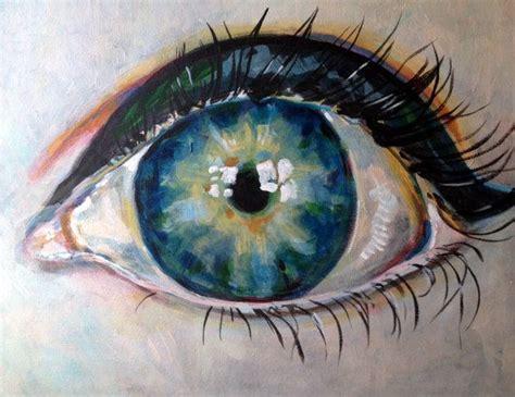 acrylic painting eye original acrylic eye painting 16x20 by doquityourdayjob on