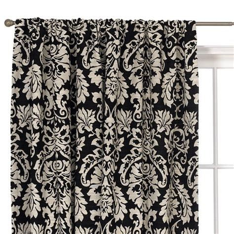 black and white curtain panel black and white damask curtain panels pictures to pin on