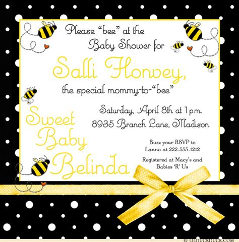Bumble Bee Baby Shower Invitations Bumblebee Ba Shower Invitation Buzz Bees Yellow Fun Printable Bumble Bee Invitation Template Free
