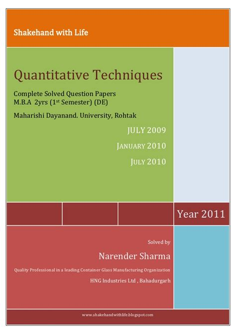 Mba Dde Mdu by Previous Solved Papers Of Mba Mdu Dde Qt July 2009