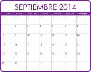 Calendario Septiembre Calendario De Septiembre 2014 Calendario Septiembre 2014