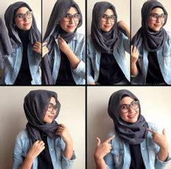 tutorial segi empat kekinian 30 tutorial hijab segi empat berkacamata yang kekinian