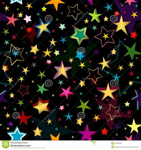 seamless pattern stars black seamless pattern with stars stock vector image