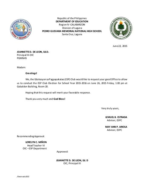 Letter Of Intent To Conduct A Research Request Letter To Conduct Election And Excuse Letter