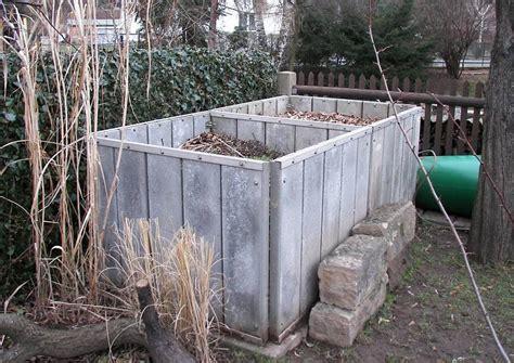 heimwerken garten kompostverkleidung aus beton und edelstahl