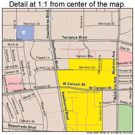 torrance california street map 0680000