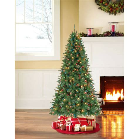 what artificial pre lit chridtmas are at home depot new time pre lit 7 duncan fir artificial tree multi lights ebay
