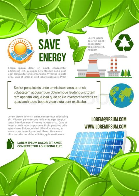 design poster highlighting energy conservation save energy poster for ecology and nature conservation and