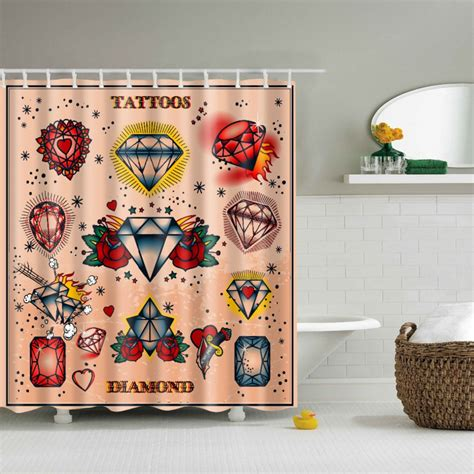 shower curtain room divider shower curtain room divider old skool tattoo 180x180cm