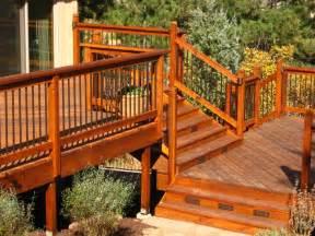 Glass Handrail Design Wood Decks Decks By Schmillen