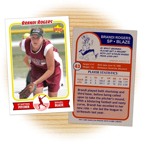softball card template custom softball cards retro 75 series cards