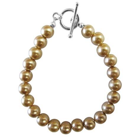 Cheap Handmade Jewelry - handmade chagne pearls toggle clasp bracelet cheap