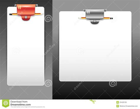 writing board papers writing board with a paper stock photo image 25429130