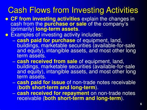 exle cash flow from investing activities ppt chapter 14 statement of cash flows powerpoint