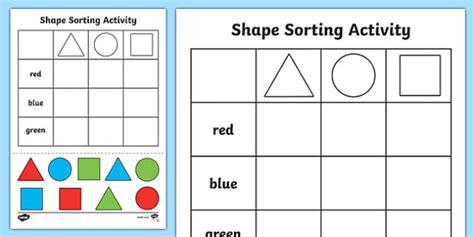 shape sorting worksheet resultinfos