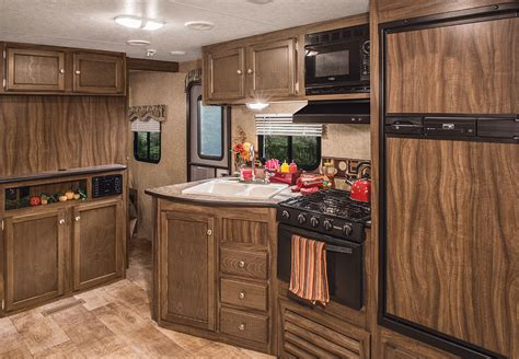 trailer kitchen cabinets 2016 sportsmen show stopper s314bhkss travel trailer k z rv