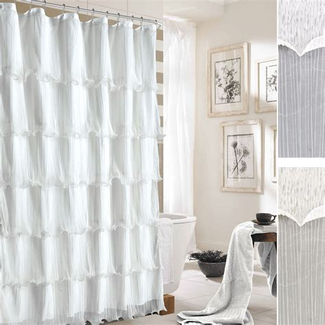 pleated shower curtain festival pleated ruffled shower curtain