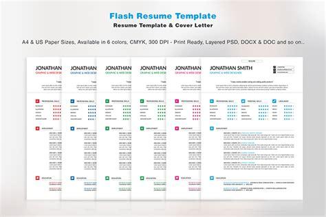 Flash Resume Template On Pantone Canvas Gallery Flashy Resume Templates