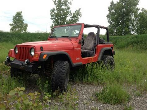 Used Jeep Wranglers For Sale In Michigan Purchase Used 1997 Jeep Wrangler 5speed 4 0 Liter In Lake