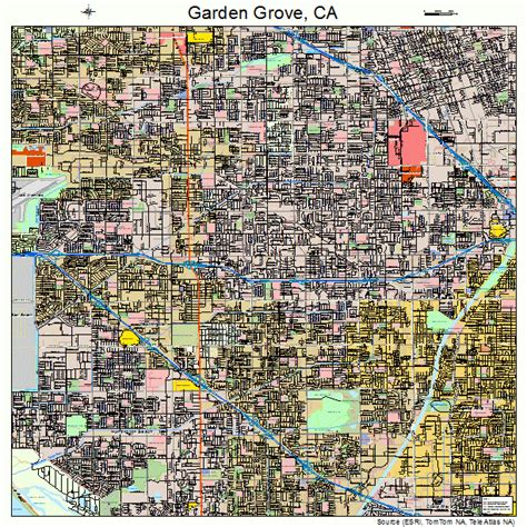 Garden Grove Garden Grove California Map 0629000