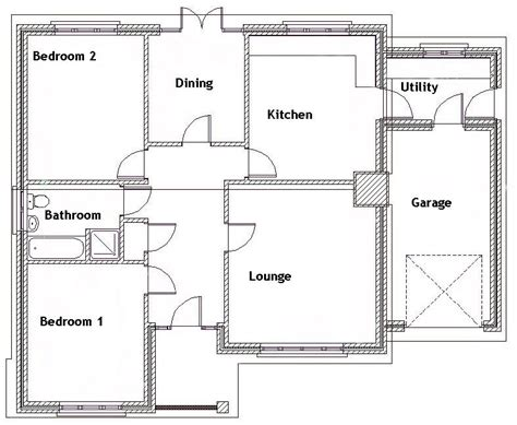 2 bed bungalow floor plans 2 story bungalow house plans 2 bedroom bungalow floor plan