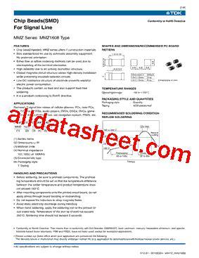 tdk capacitors datasheet mmz1608b301c datasheet pdf tdk electronics