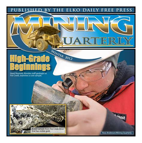 Free Publisher mining quarterly winter 2012 by elko daily