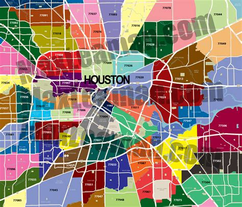 Sections Of Houston by Trackerways