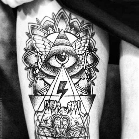 awesome grey ink eye triangle tattoo on chest in 2017 real photo cool triangle eye tattoo tattoomagz